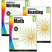 Spectrum® Grade 3  Focused Practice Set for Writing, Reading and Math, 3/Set (745041)