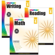 Spectrum® Grade 4  Focused Practice Set for Writing, Reading and Math, 3/Set (745042)