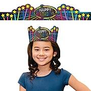 Schoolgirl Style Stars Birthday Crowns, 30 Crowns/Pack (101085)
