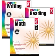 Spectrum® Grade 6  Focused Practice Set for Writing, Reading and Math, 3/Set (745044)