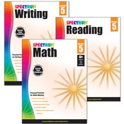 Spectrum® Grade 5  Focused Practice Set for Writing, Reading and Math, 3/Set (745043)