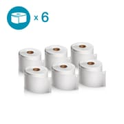 DYMO 2050765 LW Shipping Labels, 2 5/16-Inch x 4-Inch, Self-Adhesive, White, 6 Rolls of 300