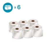 DYMO 2050811 LW Shipping Labels, 2 1/8-Inch x 4-Inch, Self-Adhesive, White, 6 Rolls of 220
