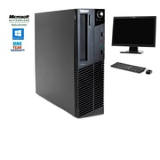 "Lenovo Thinkcentre M91 SFF Intent Core i5 2400 3.1GHz 8GB 2TB  Windows 10 Pro bundled with a 22"" LCD Monitor, Refurbished"