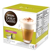 Nescafe® Dolce Gusto® Skinny Cappuccino Coffee, Light Roast, 16 Capsules/Box (NES27370)
