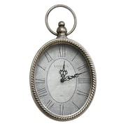"Stratton Home Decor Antique Silver Oval Bird Wall Clock, 6.75"" X 1.75"" X 11.75"" (S09595)"