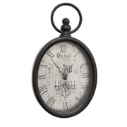 "Stratton Home Decor Antique Black Oval Wall Clock, 6.75"" x 2.00"" x 11.50"" (S02198)"