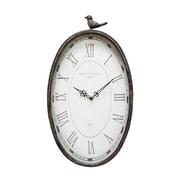 "Stratton Home Decor Antique Oval Bird Clock, 10.75"" x 2.25"" x 19.25"" (SHD0009)"