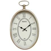 "Stratton Home Decor Elegant Wall Clock, 10.75"" x 2.25"" x 19.00"" (SHD0186)"