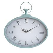 "Stratton Home Decor Sabby Blue Clock, 18.31"" x 18.50"" (S01856)"