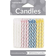 Creative Converting Assorted Striped Candles, 24 Count (089160034)