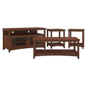 Bush Furniture Buena Vista TV Stand, Coffee Table and Set of 2 End Tables, Serene Cherry (BUV003SC)