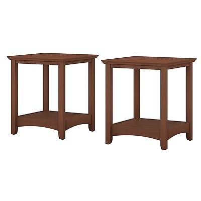 Bush Furniture Buena Vista End Tables Set of 2, Serene Cherry (MY13677-03)