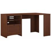 Bush Furniture Buena Vista 60W Corner Desk with Storage, Serene Cherry (MY13615-03)