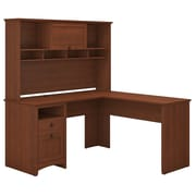 Bush Furniture Buena Vista L Shaped Desk with Hutch, Serene Cherry (BUV035SC)