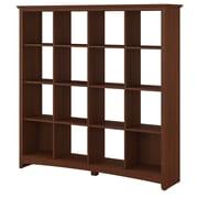 Bush Furniture Buena Vista 16 Cube Bookcase, Serene Cherry (MY13603-03)