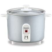 Panasonic 1.5-cup Mini Rice Cooker with Glass Lid, Silver (SR-3NAL)
