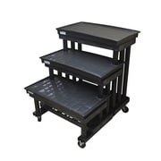 "SPC Retail Three Step Single Sided Cart Display with Waterbeds, 42"" x 36"", (SC363603WWB)"