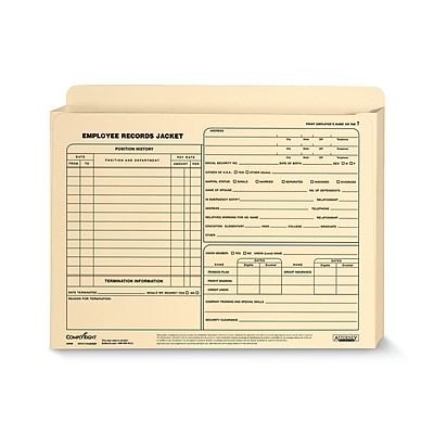 ComplyRight™ Expanded Employee Records Folder, Letter Size, Pack of 25 (A5008)