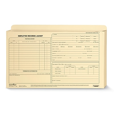 ComplyRight™ Expanded Employee Records Folder, Legal Size, Pack of 25 (A5010)