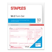 Staples® 2018 W-2 Tax Forms, 50 sets/Pack (50463-18)