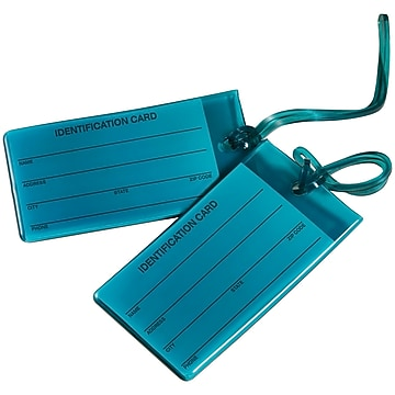 Travel Smart Jelly Luggage Tags Pack of 2(TS03TEAL6)