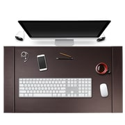 "SUM Life Edge Desk Pad With Anti Skid and Side Rails, 34"" x 20,"" Moca Brown (OSCDPD001)"