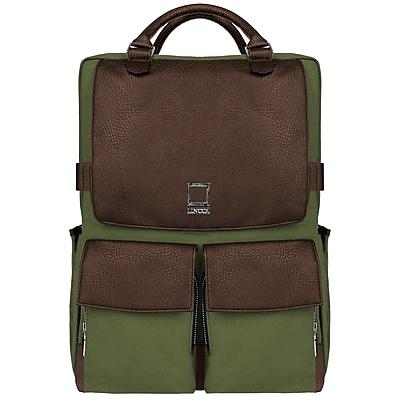 SumacLife Back to School Laptop Backpack Travel Bag, Forest Green (PT_NBKLEA811_BA)