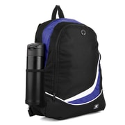 SumacLife Light Weight School Laptop Backpack, Black Blue (PT_NBKLEA473_NS)