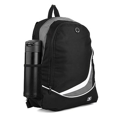 SumacLife Light Weight School Laptop Backpack, Black Gray (PT_NBKLEA472_NS)