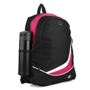 SumacLife Light Weight School Laptop Backpack, Black Pink (PT_NBKLEA474_NS)