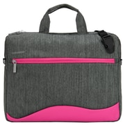 "Vangoddy Wave Laptop Bag, Fits 12-13"" Laptops, Gray/Pink, (NBKLEA604)"