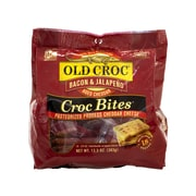 Old Croc Bacon and Jalapeno Aged Cheddar Cheese Croc Bites, 18 Count (902-00107)