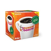 Dunkin' Donuts Decaf Keurig Single-Serve K-Cup Pods, Medium Roast Coffee, 44 Count