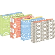 Barker Creek Thoughtfulness File Folders, 3-Tab, Letter Size, Assorted, 12/Pack (BC1307)