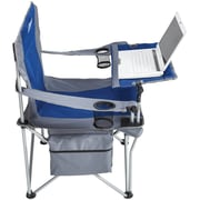 Creative Outdoor Distributor™ Folding iChair with Adjustable Tilting Table & Wineglass Holder, Blue (810396)