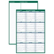 "AT-A-GLANCE® Vertical Erasable Wall Calendar, 12 Months, Reversible for Notes and Planning Space, 48"" x 32"" (PM310-28-19)"