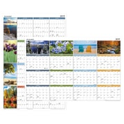 "AT-A-GLANCE® Seasons in Bloom Horizontal/Vertical Erasable Yearly Wall Calendar, 36"" x 24"" (PA133-19)"