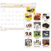"""AT-A-GLANCE® Puppies Desk Pad, 12 Months, January Start, 22"""" x 17"""" (DMD166-32-19)"""