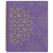 "Cambridge® Vienna Weekly/Monthly Planner, 12 Months, January Start, 8 1/2"" x 11"", Purple (122-905-19)"
