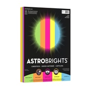 "Astrobrights Colored Cardstock, 8.5"" x 11"", 65 lb/176 gsm, ""Glow"" 5-Color Assortment, 50 Sheets (91336)"