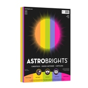 """Astrobrights Colored Cardstock, 8.5"""" x 11"""", 65 lb/176 gsm, """"Happy"""" 5-Color Assortment, 50 Sheets/Pack (91248)"""