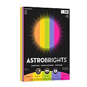 """Astrobrights Colored Cardstock, 65 lbs., 8.5"""" x 11"""", Assorted Colors, 50 Sheets/Pack (91248)"""