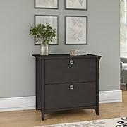 Bush Furniture Salinas Lateral File Cabinet, Vintage Black (SAF132VB-03)