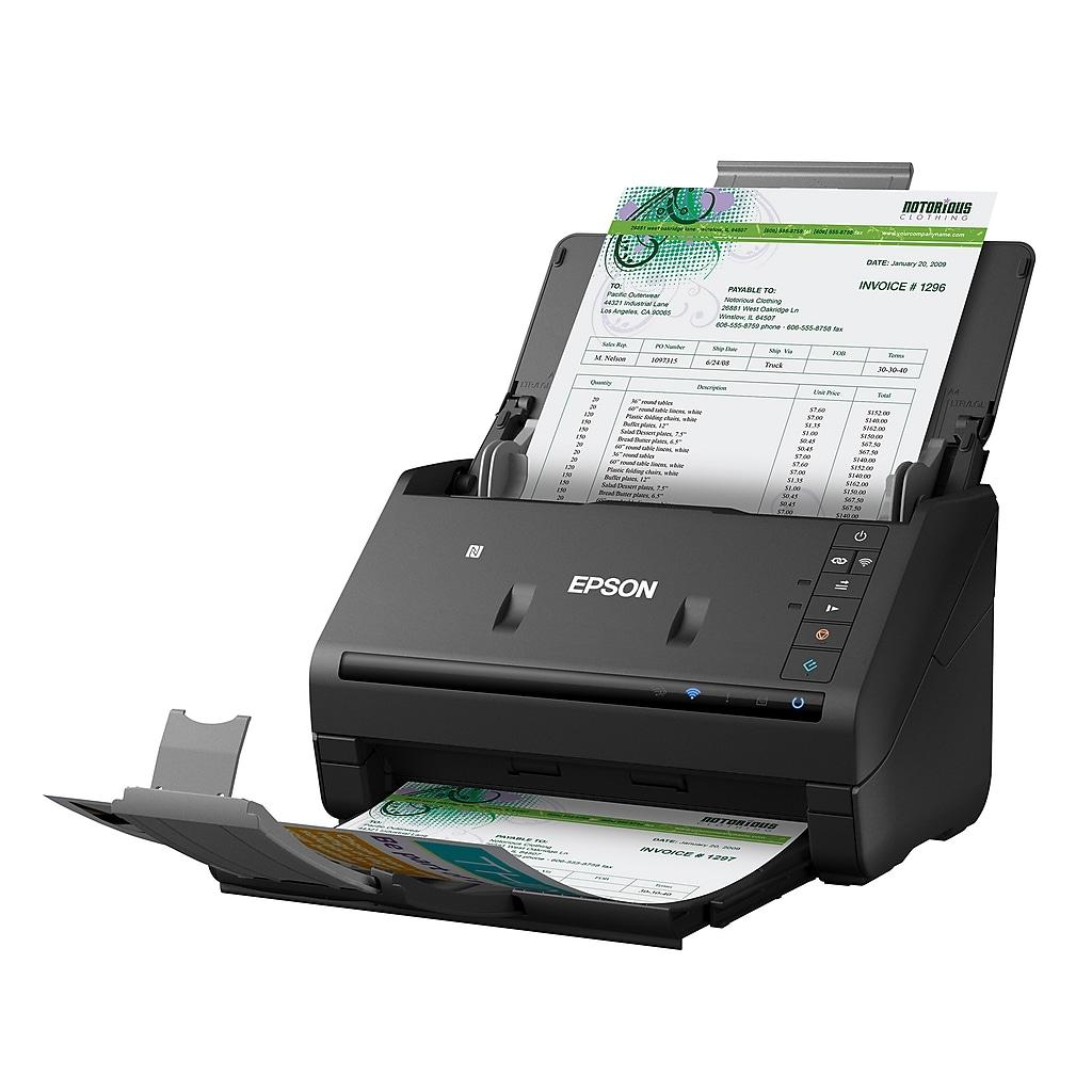 Epson WorkForce ES-500WR USB/Wireless Sheetfed Receipt Scanner, Black