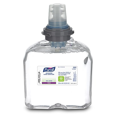Purell Advanced Foaming Hand Sanitizer Refill, 40.5 oz., 2/Case (5391-02)