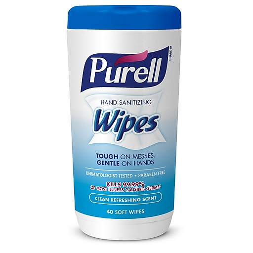 PURELL® Hand Sanitizing Wipes, Clean Refreshing Scent, 40 wipes/canister (9120-06-CMR)