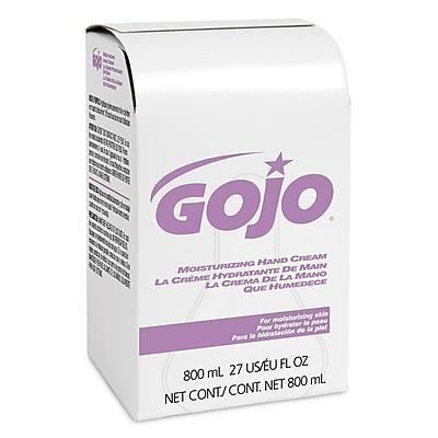 GOJO Moisturizing Hand Cream Refill, Unscented, 27 oz., 12/Carton (9142-12)