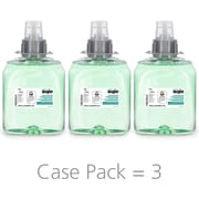 GOJO® Green Certified Foam Hand, Hair & Body Wash Refill, Cucumber Melon, FMX-12, 1250 mL, 3/Carton (5163-03)