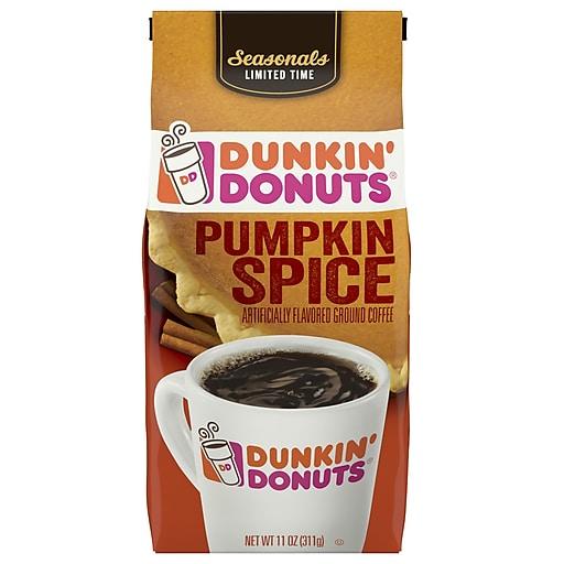 Dunkin' Donuts Pumpkin Spice Flavored Ground Coffee, Medium Roast (SMU40014)